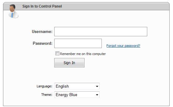 Autentificare websitepanel