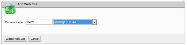 websitepanel add website