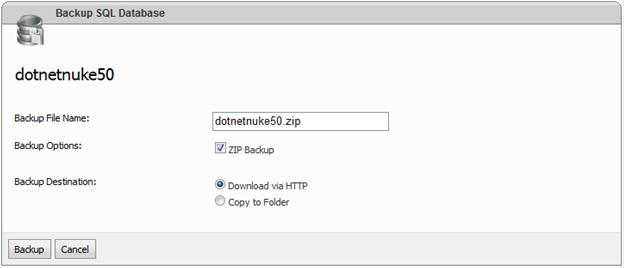 websitepanel sql server database backup